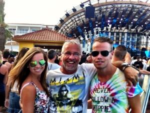Met Wouter en Rayke bij Avicii in Ushuaia op Ibiza